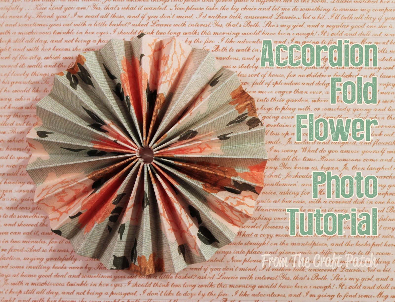Accordion Fold Paper Flowers Thecraftpatchblog