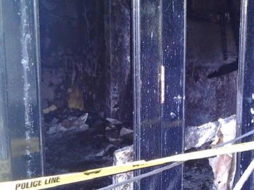 Rumah Uje terbakar © Kompas.com