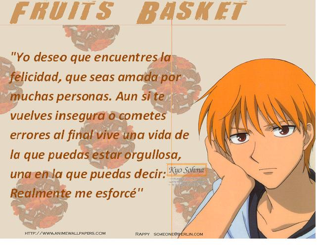Frases con fotos del anime. KYO2