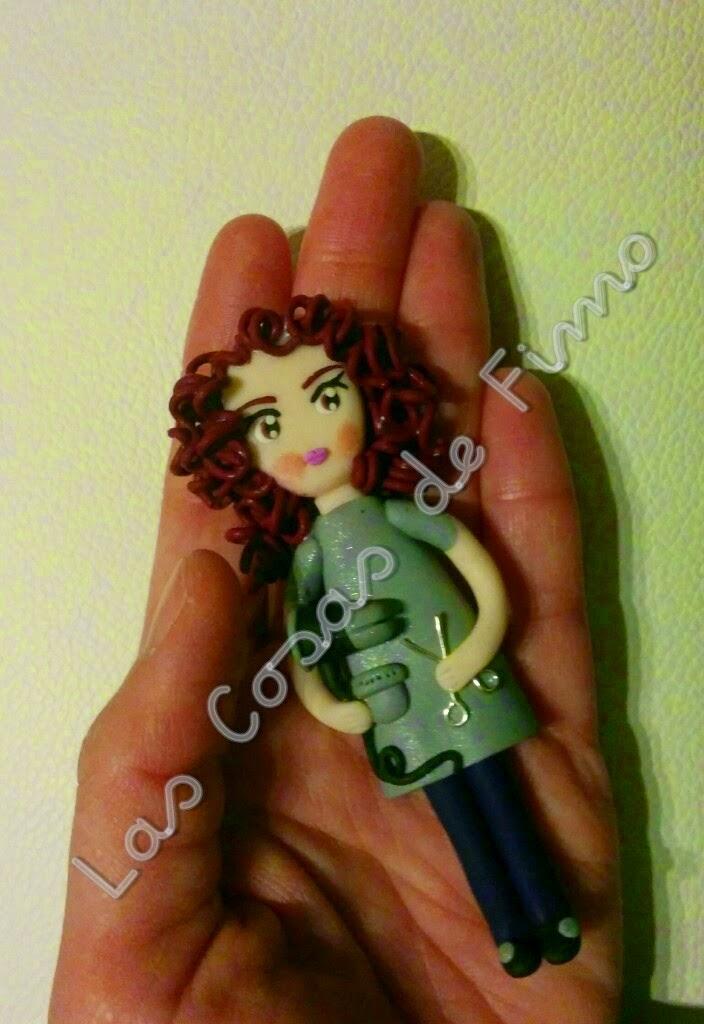 Muñeca Fimo Peluquera