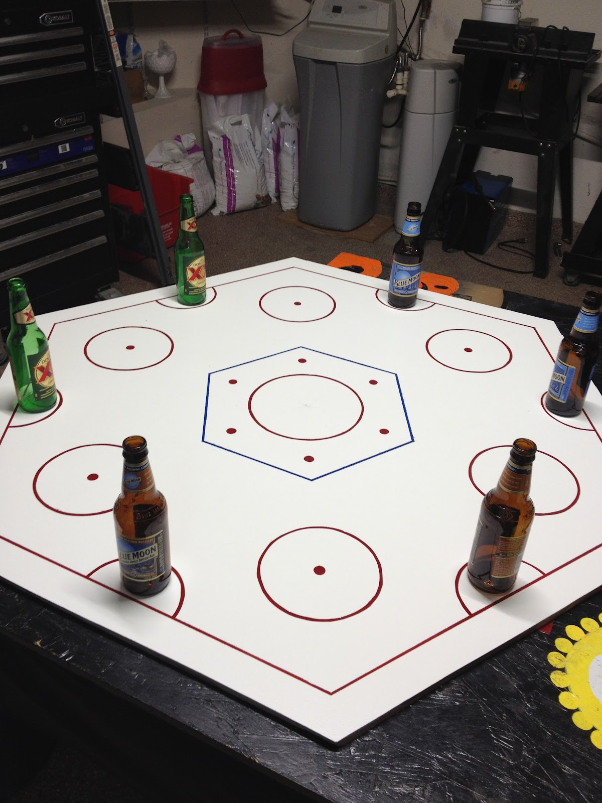 Hockey beer pong table - Beer Hockey Table