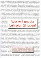 Was will uns der Lehrplan 21 sagen?