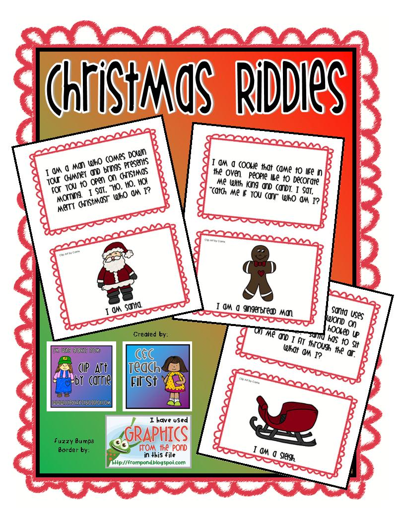 Uncategorized Riddles On Christmas clip art by carrie teaching first christmas holiday riddles check out our set here at tpt store