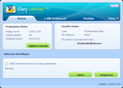 Glary Utilities Pro 2.54 – Main Interface