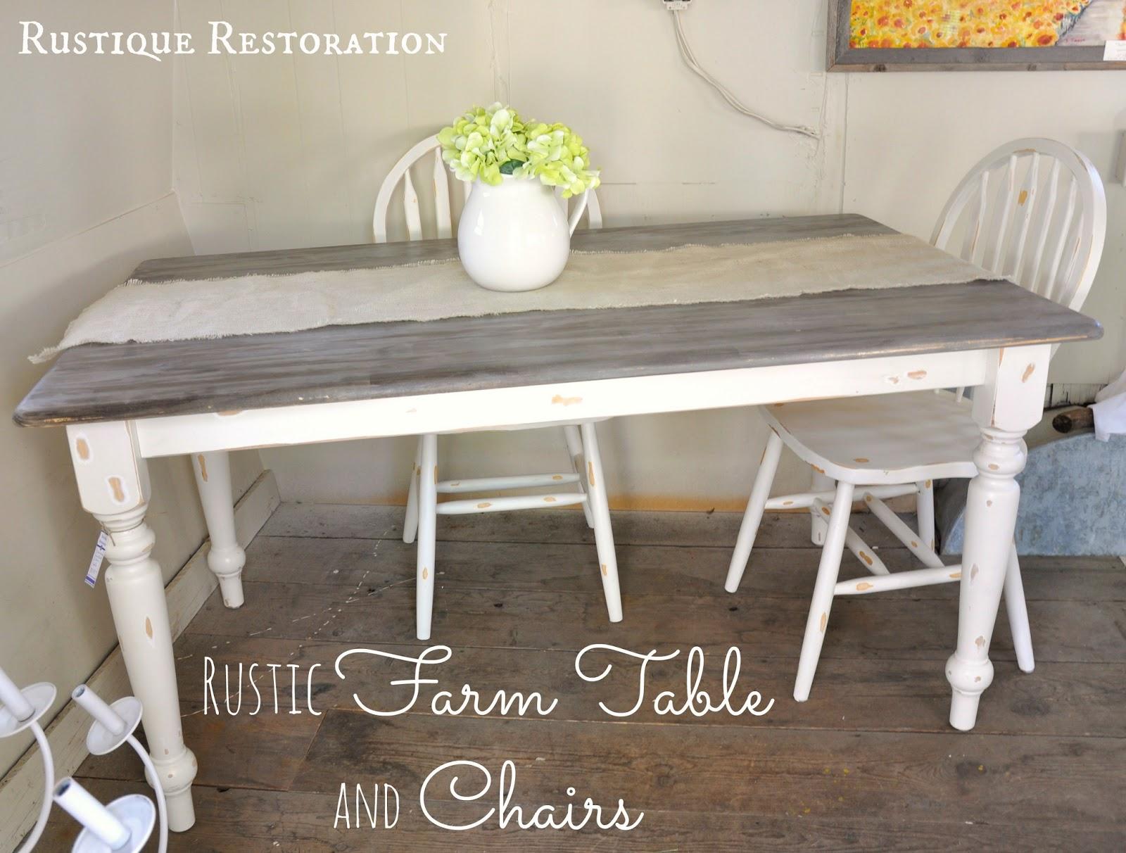 Rustique Restoration Two Farmhouse Tables