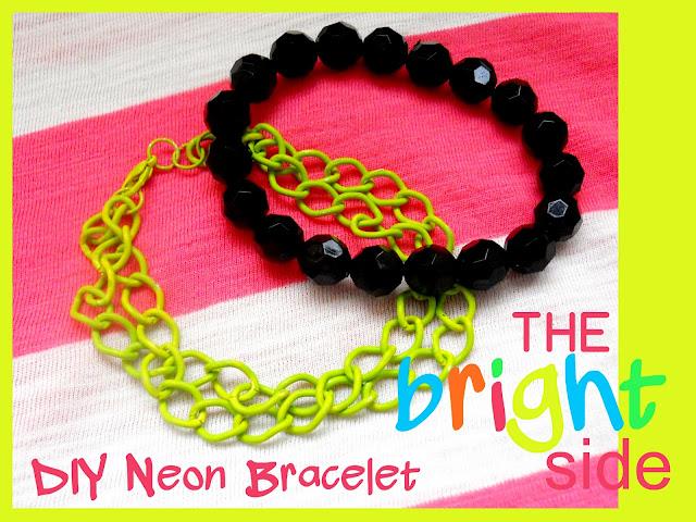 diy-neon-bracelet