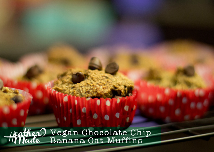 vegan chocolate chip banana oat fuffins recipe