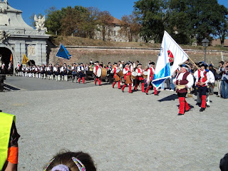 Citadel Alba Carolina-guard parade