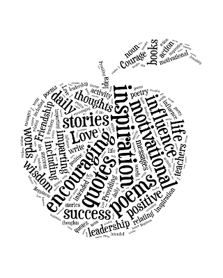 Apple Teacher Art from {i love} my disorganized life #backtoschool #teachergift #inspirational