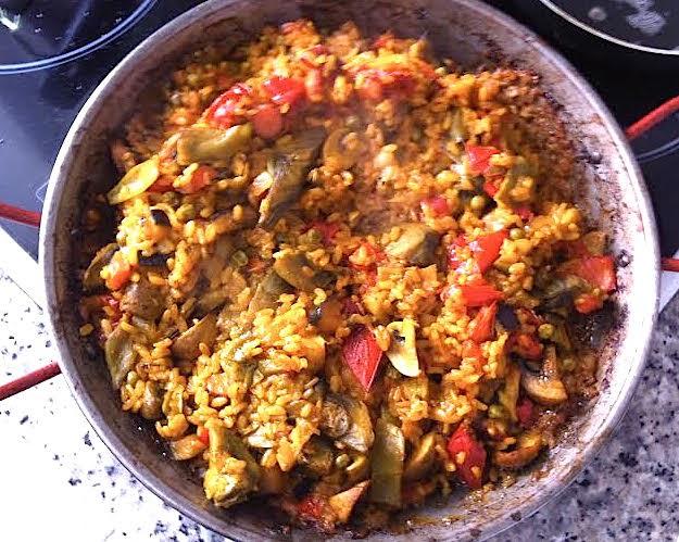 Paella de verduras estilo mallorqu n for Como hacer paella de verduras
