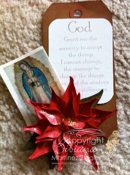 image of virgen de guadalupe with poinsettia