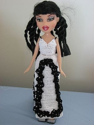 Knitting Patterns For Bratz Doll Clothes : Donnas Crochet Designs Blog of Free Patterns: White Gown ...