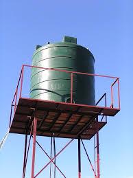 Rangka toren air untuk daerah dadap siap di kerjakan.