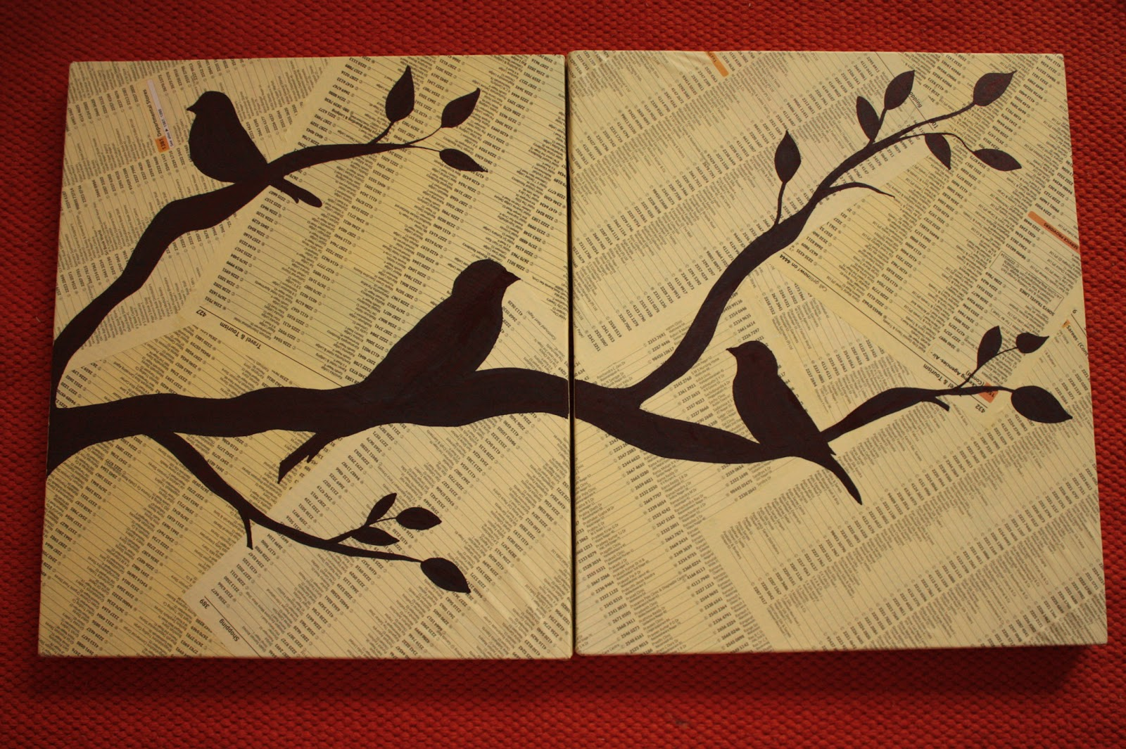 Simz Corner: My 100th post! Bird wall art - Tutorial