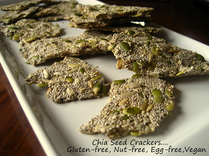 ... In Montana: Chia Seed Crackers...Gluten-free, Nut-Free, Egg-Free