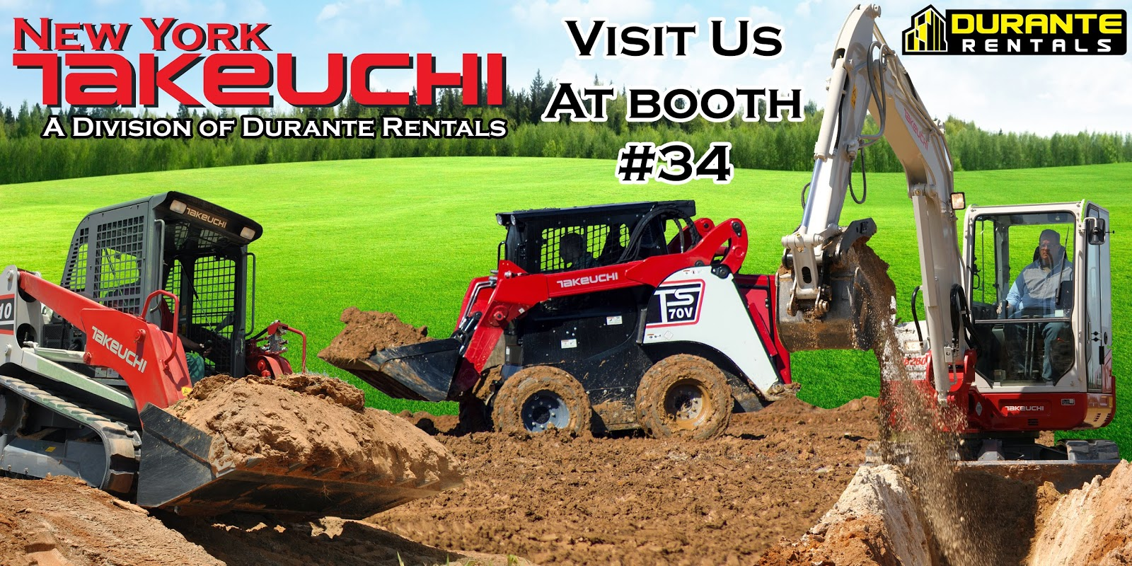 Durante Rentals and NY Takeuchi at NYSTLA tradeshow