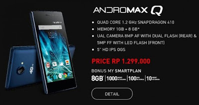 Andromax Q, Smartphone Andromax 4G LTE Terbaru