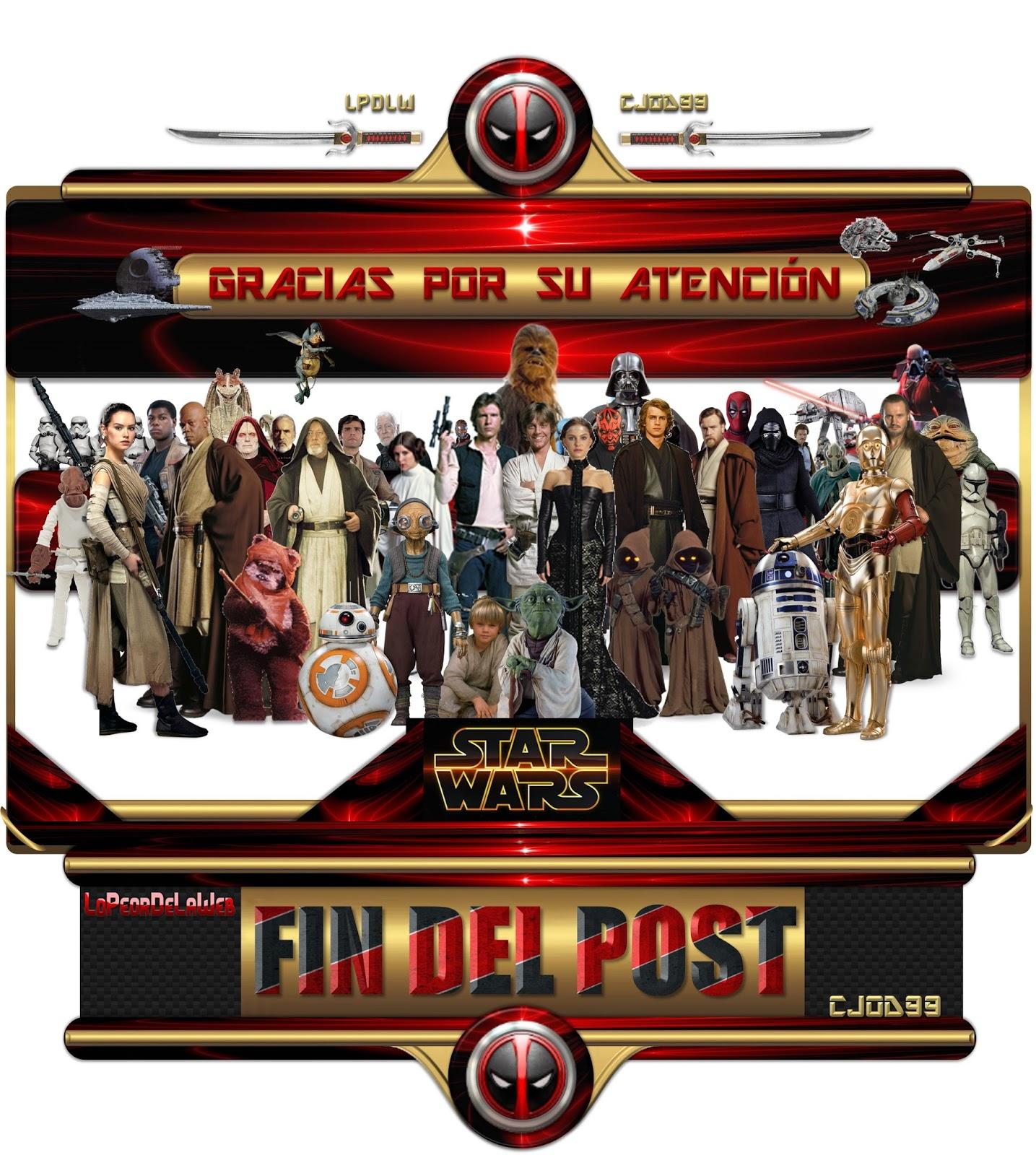 Megapost Saga Star Wars Completa 1-7 1080p Latino