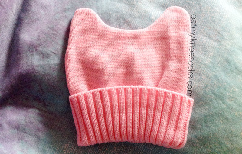 The pastel pink cat ears knit beanie from JollyChic, cute and cheap!