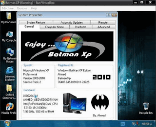 Windows XP SP3 Batman Edition