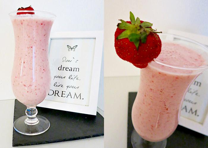 Erdbeer-Melonen Shake