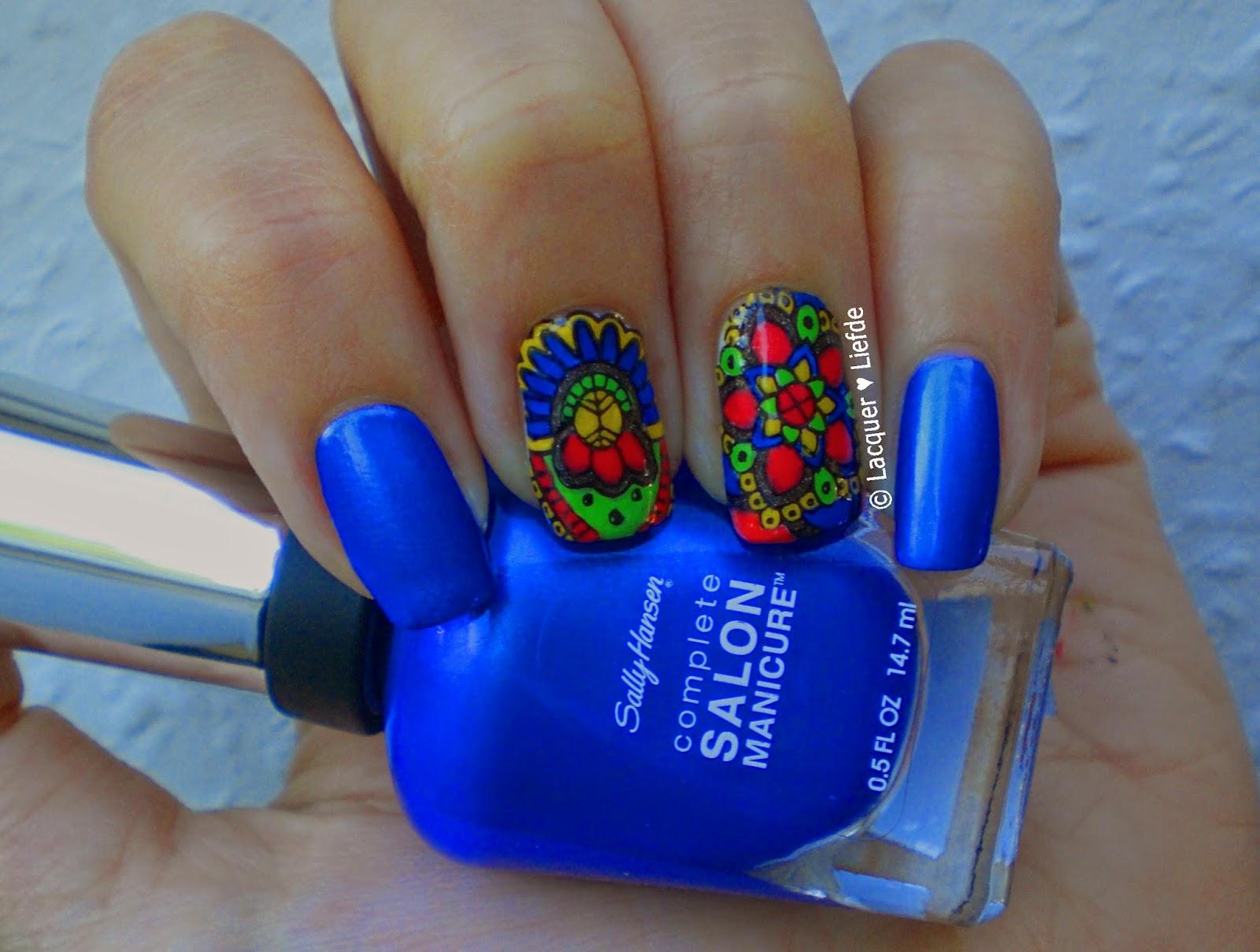 Reverse Stamping Sally Hansen Batbano Blue
