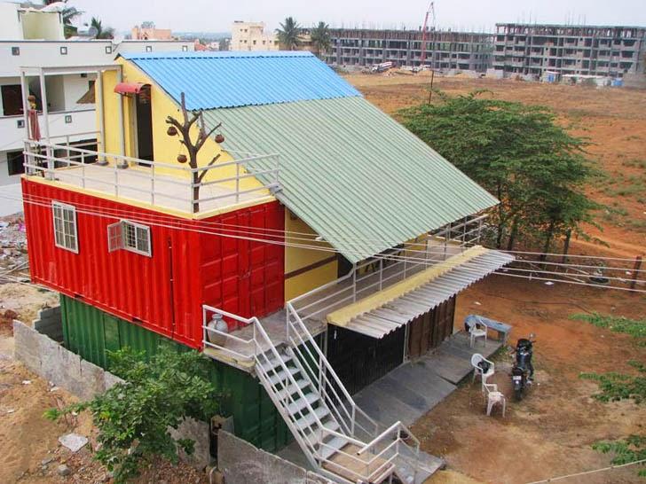 Casas contenedores la primera casa contenedor en bangalore india - Casas en contenedores marinos ...
