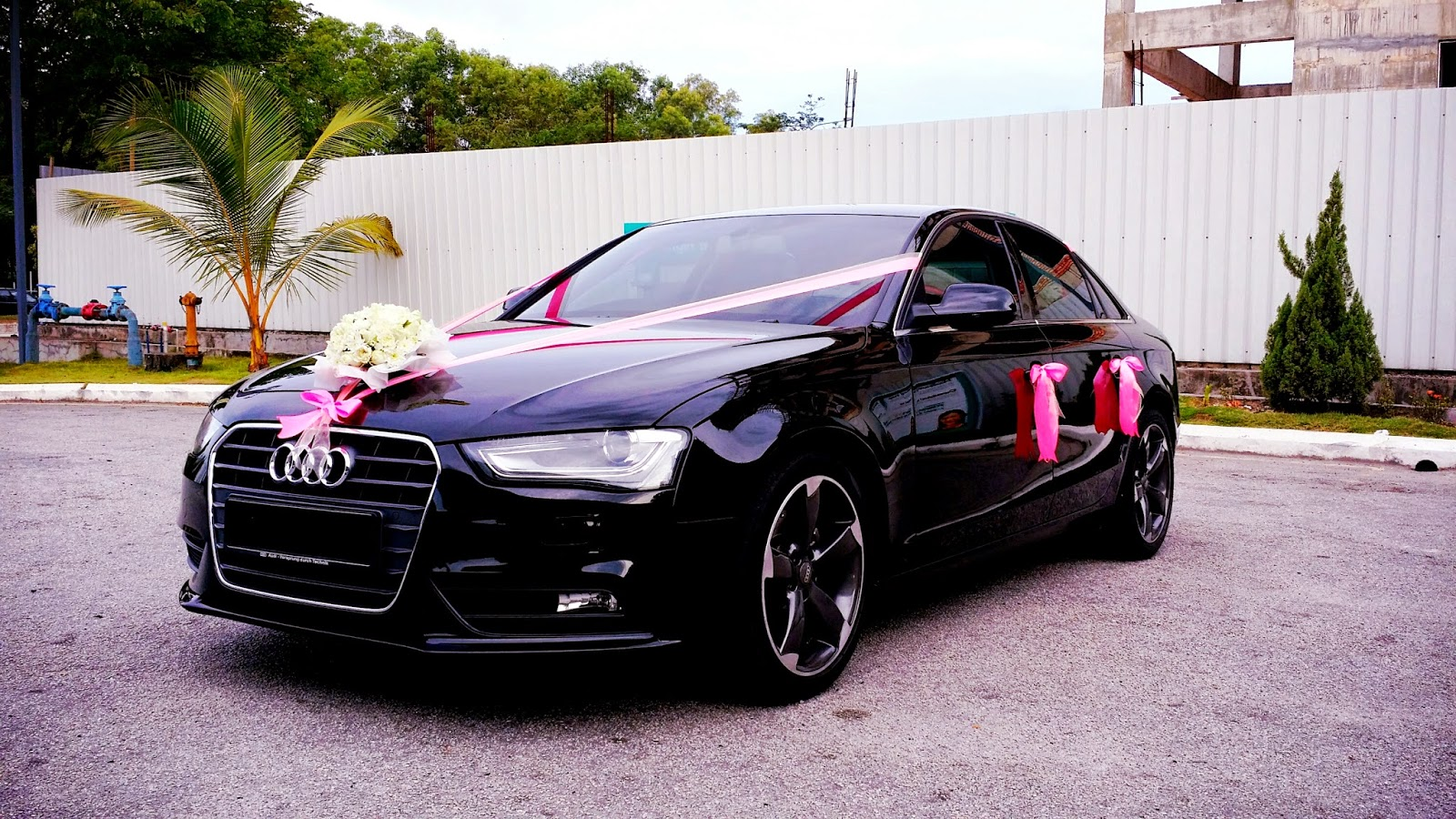 Redorca malaysia wedding and event car rental audi a4 wedding car audi a4 wedding car with pink deco and white flowers junglespirit Gallery