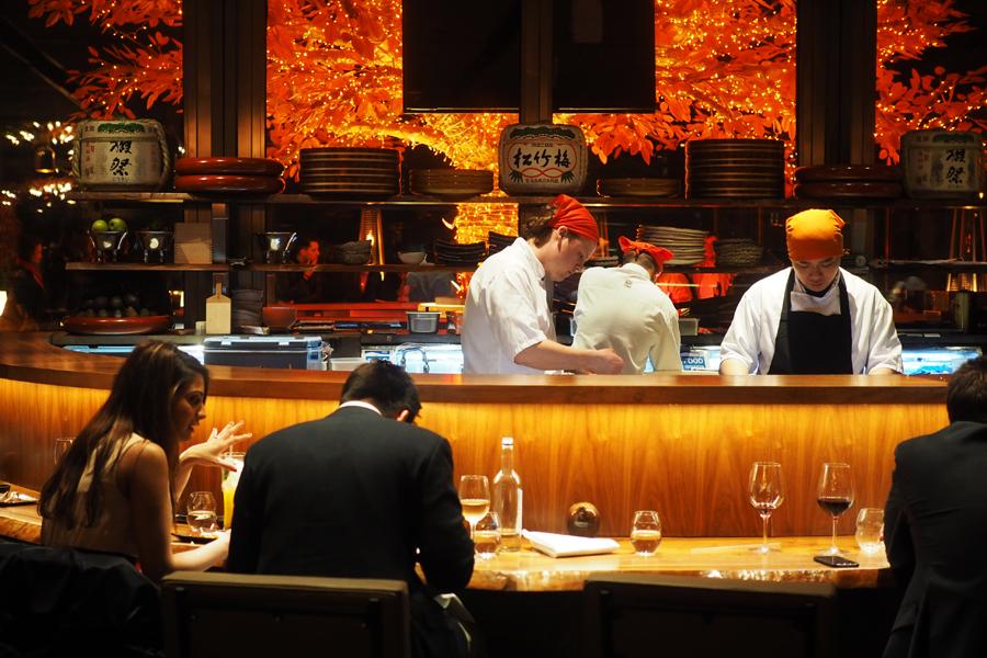 Dinner at Sushi Samba, London