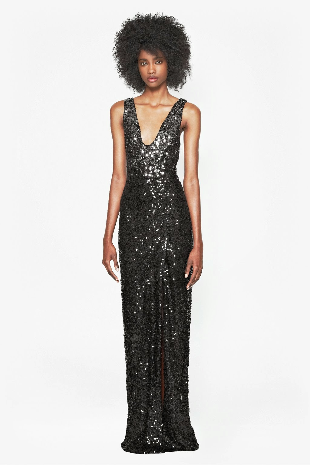 black sequin maxi dress 2014