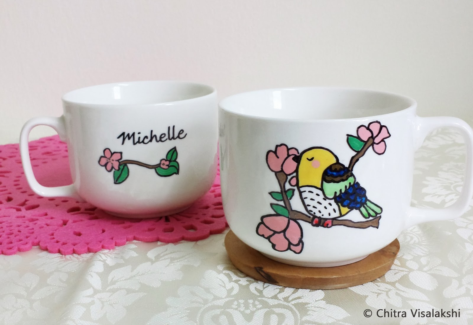 craft with chitra personalized white ceramic mugs