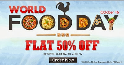 World Food Day: Get Rs.250 Off  on Rs.500 or above worth Food at Foodpanda (Valid for Online Order Only till 16th Oct'13 6 PM)