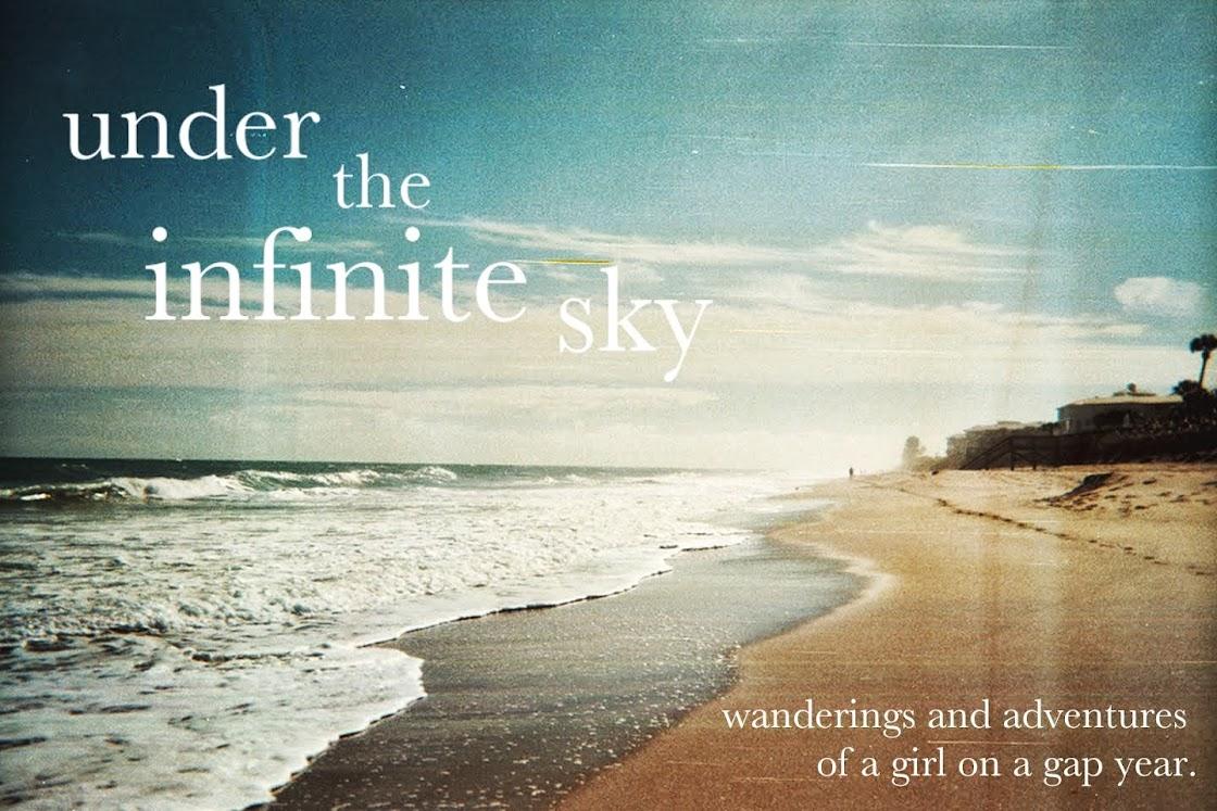 under the infinite sky