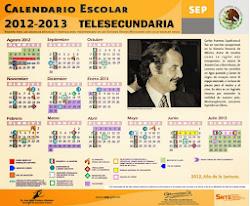 Calendario Escolar Telesecundarias