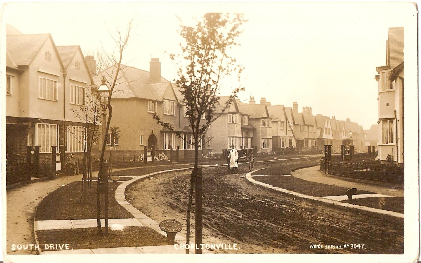 Another picture of Chorltonville, South Drive and a milkman