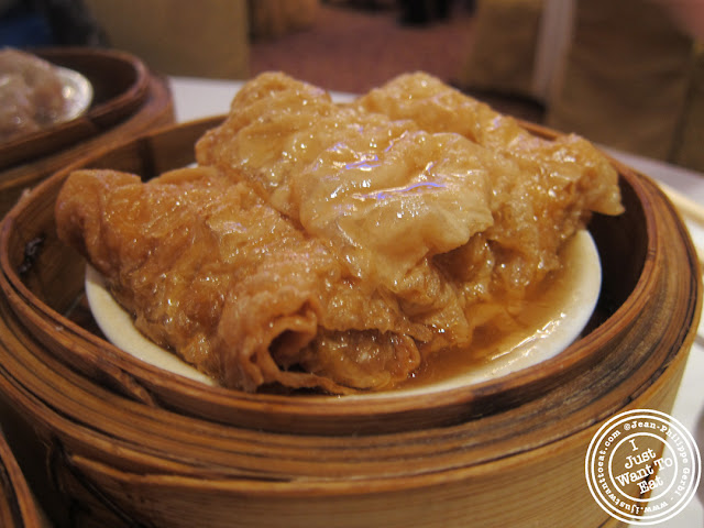 Image of Bean curd rolls at the Golden Unicorn in Chinatown NYC, New York