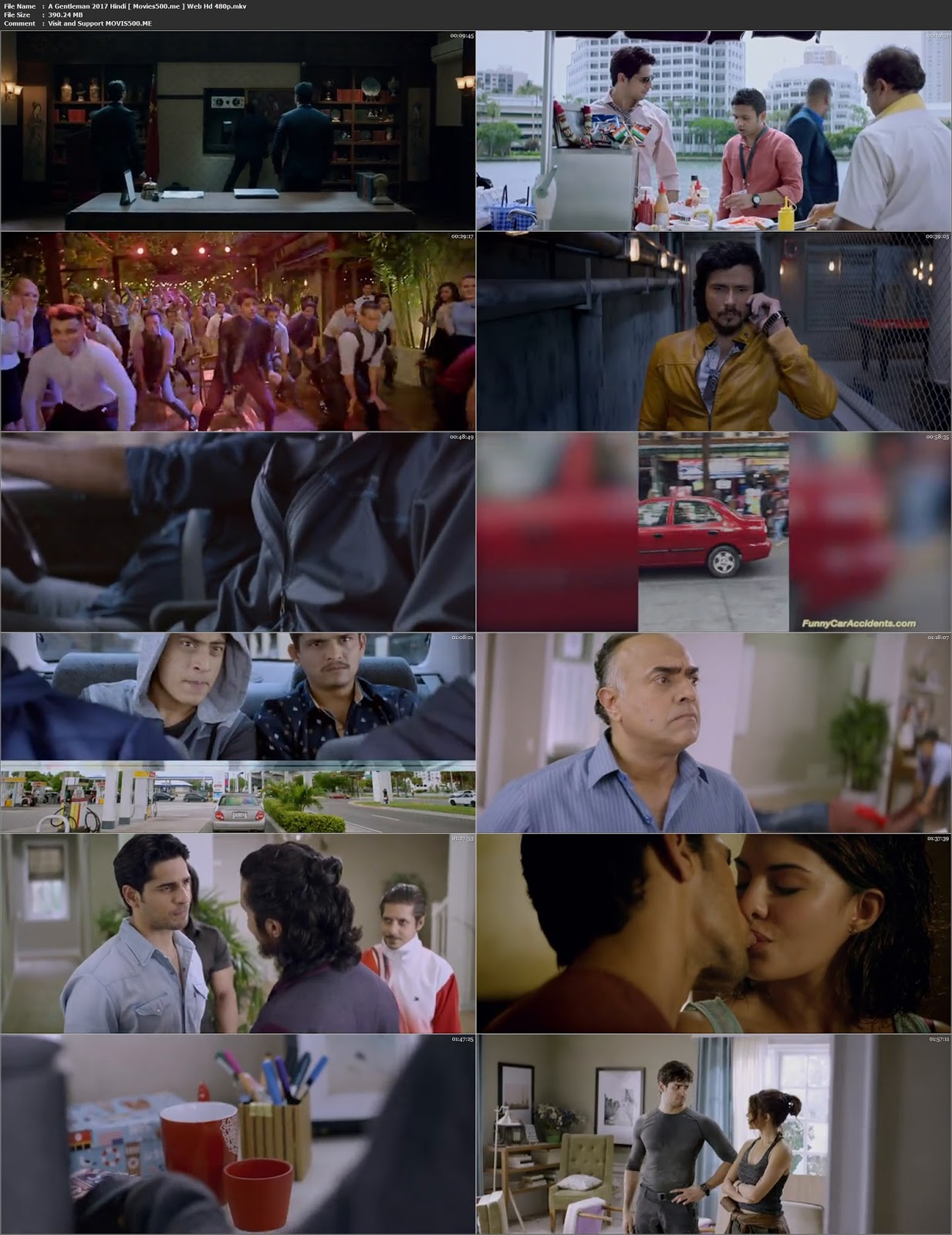 A Gentleman 2017 Bollywood 300MB WEB HD 480p ESubs at gencoalumni.info