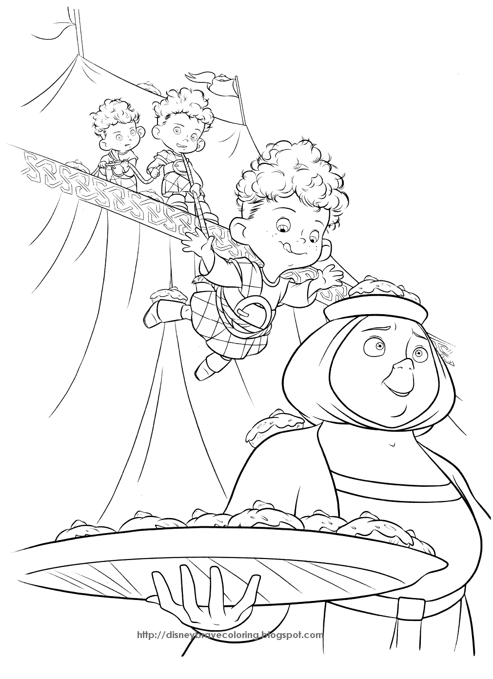 Brincando de desenhar etc e tal desenhos para colorir for Coloring pages merida