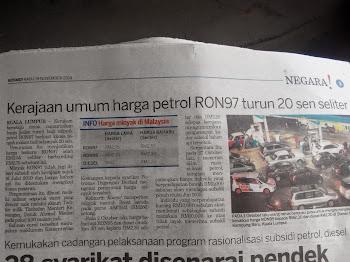 Semasa |#| Kerajaan umum penurunan harga minyak, -PITAM-