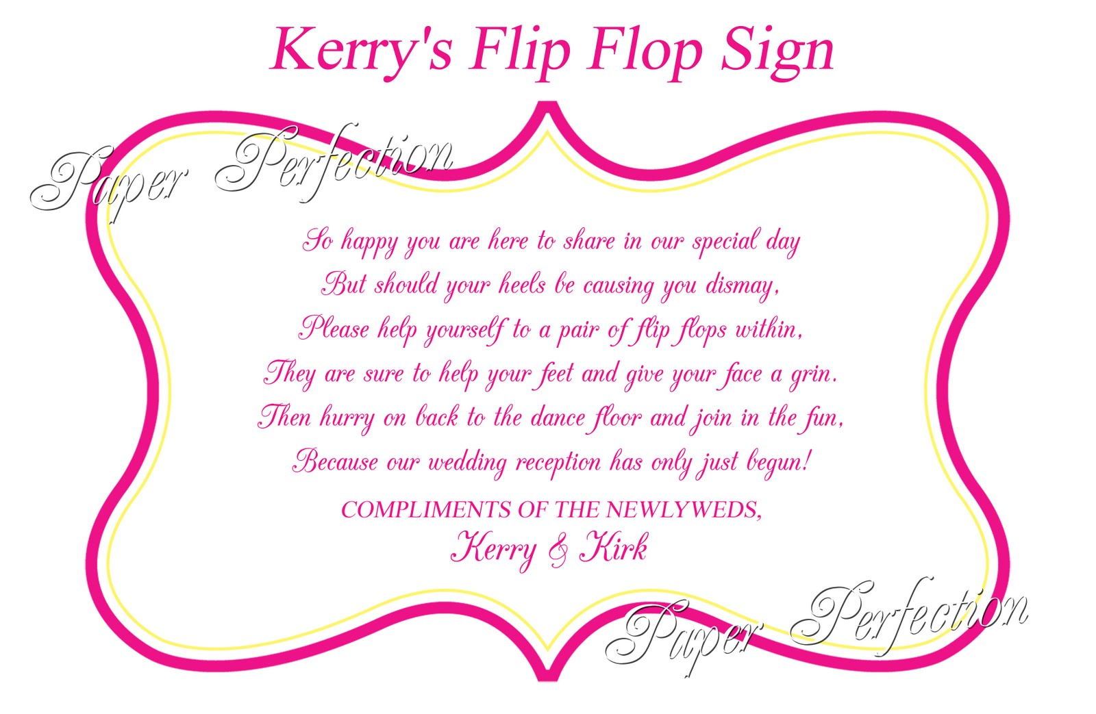 kerrys wedding candy buffet labels signs