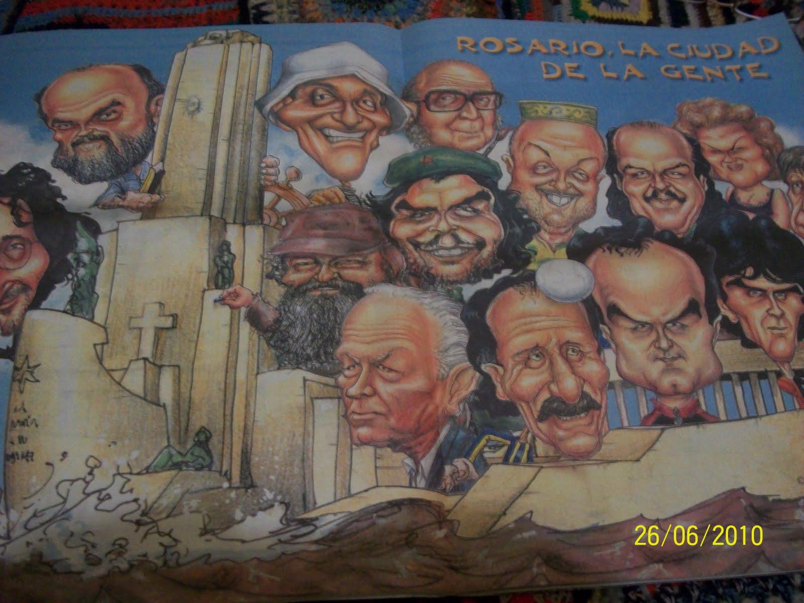 Caricatura de Personajes Rosarinos