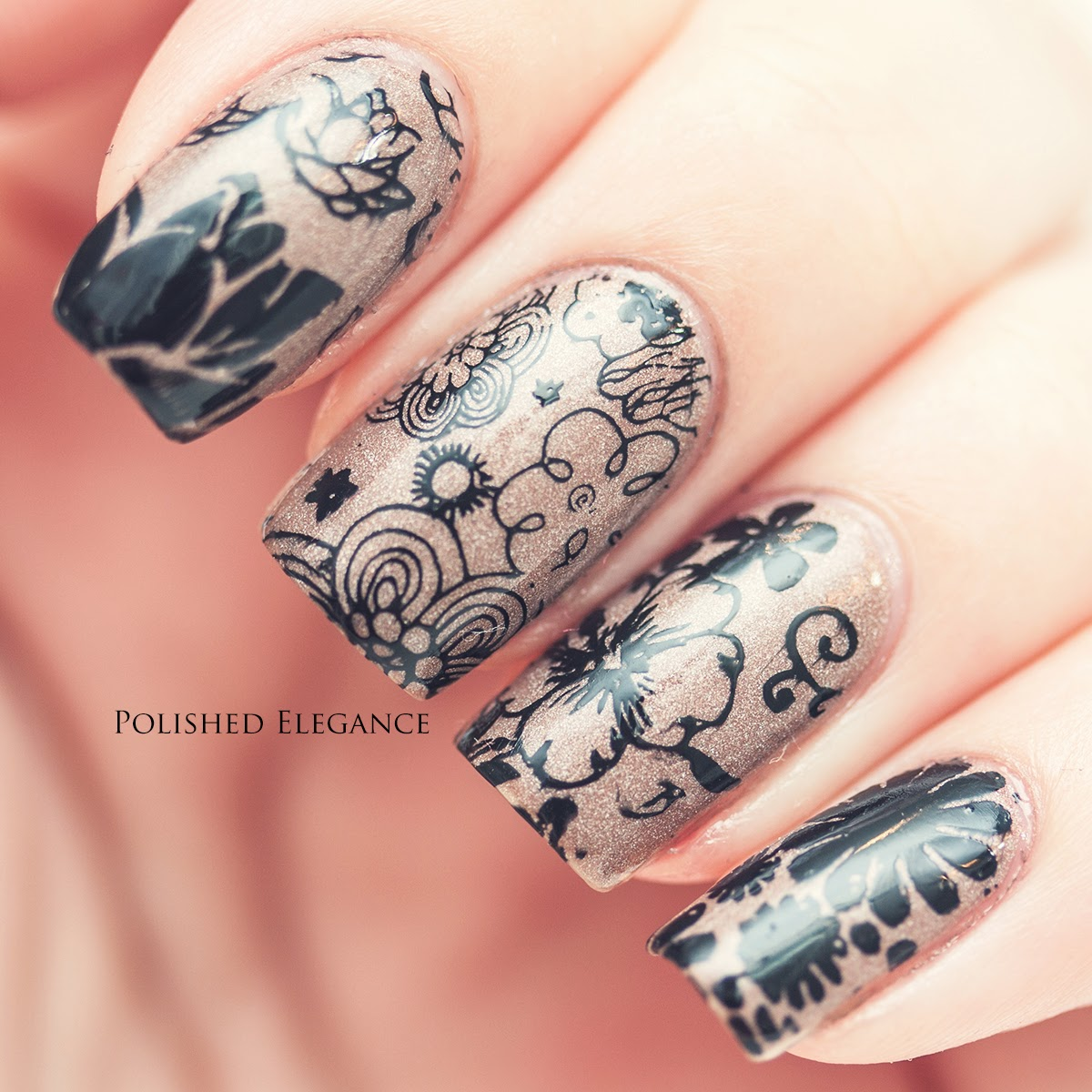 Emoji Nail Art And Some New Kit From Moyou: Polished Elegance: MoYou Stamping