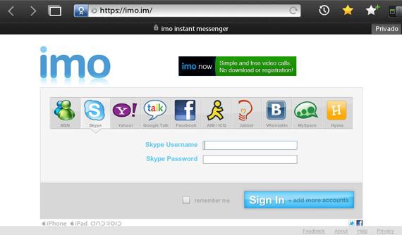 La BlackBerry PlayBook cuenta con una gran aplicación de FaceBook, y aunque su navegador es lo bastante potente como para poder disfrutar de la mayoría de los servicios de chat en sus respectivas webs, Stefano de BBWorld nos muestra hoy una sóla web que engloba el chat del MSN, Skype, Yahoo Messenger, Google Talk, FaceBook, AIM/ICQ, Jabber, etc… para que chatear sea una tarea fácil y podamos acceder a todos los servicios desde un mismo lugar. He estado probando la web y sinceramente desde la actualización de ayer va realmente bien, no hay dilación en los mensajes, los menús son