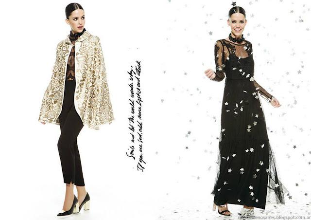 Vestidos de fiesta invierno 2015 María Dahn.