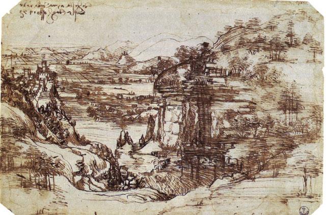 Paisaje Leonardo da Vinci