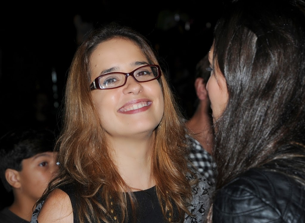 A atriz Paloma Duarte esteve em Teresópolis especialmente para o Grito Rock