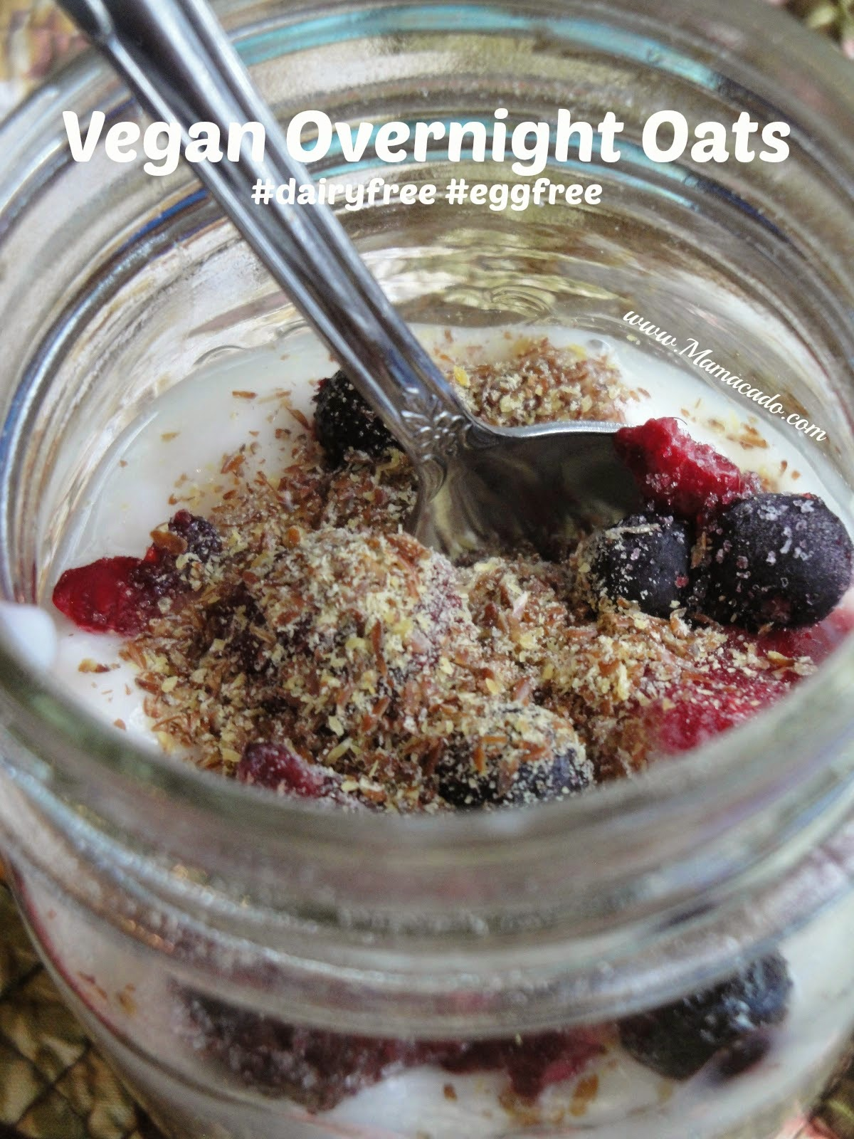 mamacado easy breakfast vegan overnight oats. Black Bedroom Furniture Sets. Home Design Ideas