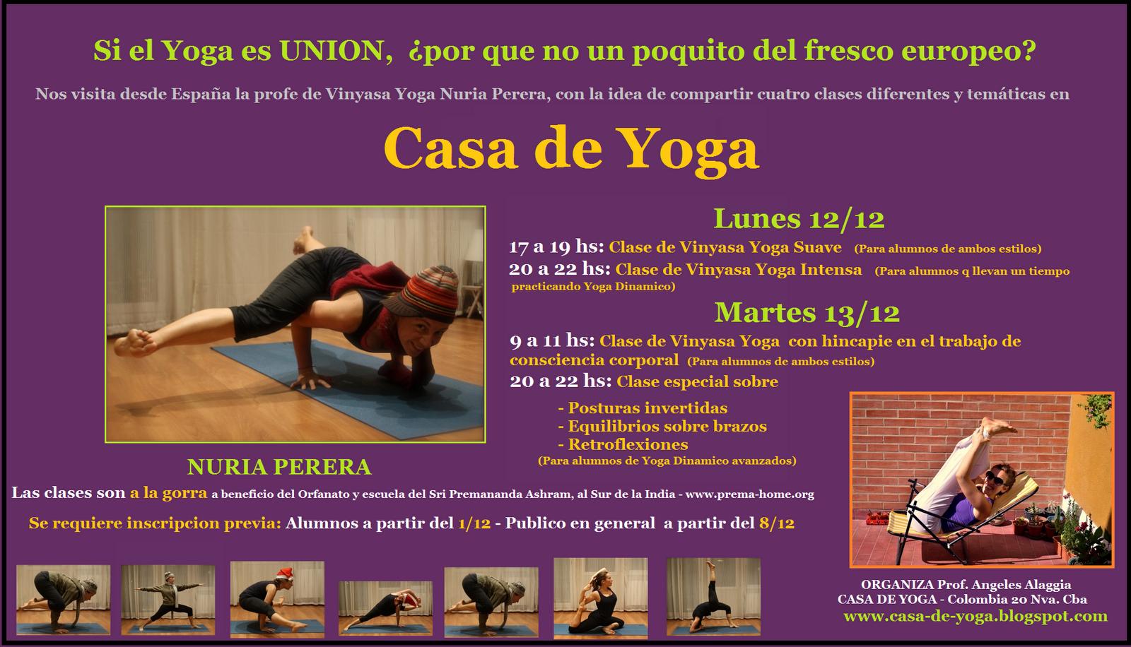 Hansika yoga clases en casa de yoga c rdoba argentina diciembre 2011 - Clases de yoga en casa ...