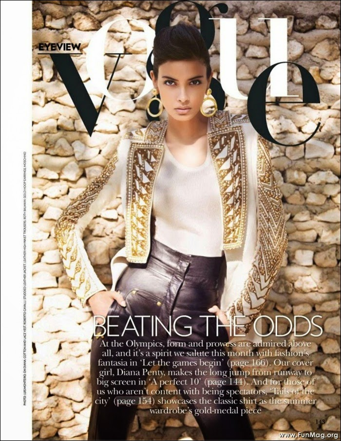 Diana Penty in Vogue Magazine