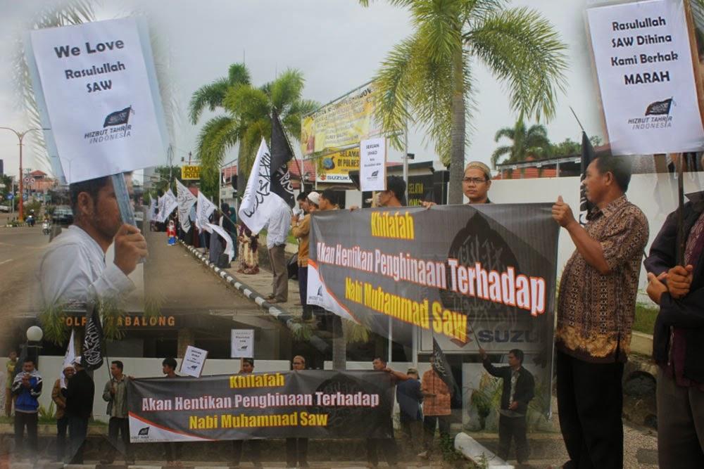 Aksi pembelaan terhadap penghinaan terhadap Nabi Muhammad SAW dilakukan Hizbut Tahrir Indonesia (HTI) DPD II Kabupaten Tabalong. Pembelaan tersebut dilakuan karena terbitnya karikatur penghinaan Nabi SAW yang diterbitkan majalah Charlie Habdo Perancis.